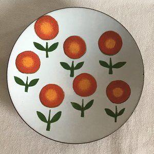 De Passille Sylvestre Enamel Copper Bowl Dish VTG